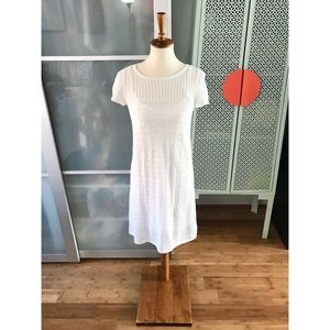 Lilly Pulitzer Paula White Crochet Sweater Dress